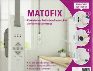 Matofix Elektrischer Rollladen-Gurtwickler Unterputzmontage m. Timer