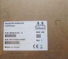 MELLANOX MSB7510-E EDR 100Gb/s 100Gbs INFINIBAND 36 PORT LEAF BLADE SWITCH-IB