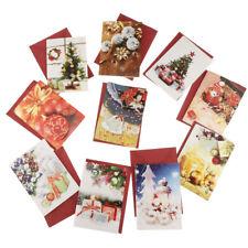 10pcs Carte de Vœux Pliable de Noël avec Enveloppe
