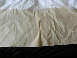 Tommy Bahama Nador Queen Bed Skirt Dust Ruffle Beige Box Pleat Split Corner