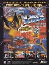 Capcom Marvel X-MEN CHILDREN OF THE ATOM Sega Saturn video game print ad page