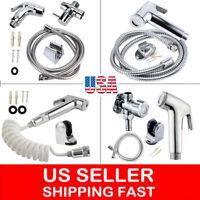Toilet Bidet Sprayer Stainless Steel Handheld Diaper Shower Spray & Hose Holder