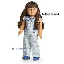 American Girl Molly's Floral Pajamas PJ'S NIB Blue Yellow Doll Not Included LE