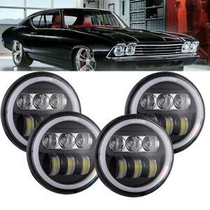 """4pcs 5 3/4"""" 5.75 LED Headlight  for GMC C15/C1500 C25/C2500 C35/C3500 Pickup"""
