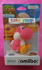 AMIIBO YOSHI LAINE ROSE PINK YOSHI'S WOOLLY WORLD NINTENDO WII U