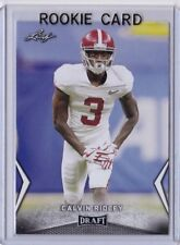 CALVIN RIDLEY 2018 LEAF DRAFT ROOKIE CARD! ALABAMA / ATLANTA FALCONS!