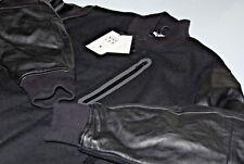 NEW Nike NikeLab Essentials Leather Destroyer Varsity Jacket Black 908644-010