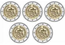 Allemagne 2015 - 5 x 2 Euro Comm - 25 ans de l'unité allemande (UNC)