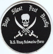 Deep Silent Fast Deadly Submarine Related Patch BC Patch Cat No. c6750