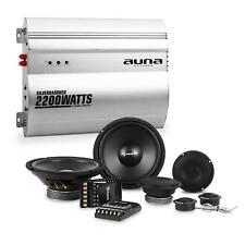 Auna Silverhammer Set hifi Tuning Auto Enceintes Amplificateur 2 canaux 4800w