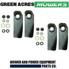 """2 PAIRS 4 X 18"""" BLADES & BOLT KITS FOR VICTA LAWNMOWER HARDENED BLADES CA09506S"""