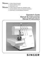 Singer 14SH654-LED-Version Sewing Machine Owners Manual Reprint