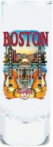 "Hard Rock Cafe BOSTON 2017 City Tee T-Shirt 4"" SHOT GLASS Cordial V17 New"