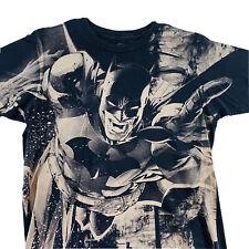 Batman All Over Print Gray T Shirt DC Comics Mens Size M Medium