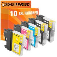 10 Druckerpatronen XXL für Brother DCP-145C MFC-295CN MFC-297C DCP-195C LC980
