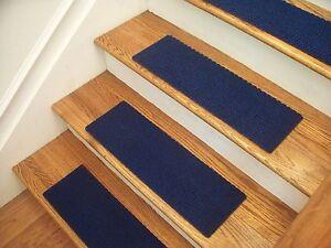 "Premium Carpet Stair Tread Sets - Berber Blue - 24"" x 8"""