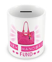 New Handbag fund Money Box PIGGY BANK - Girls coins pot GIFT IDEA girlie #69