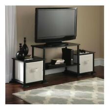 TV Stand Entertainment Center Small Black Media Console Living Room Furniture