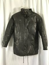 Eddie Bauer Womens Brown Genuine Leather Goose Down Insulated Jacket Coat sz S