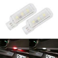 2x 12V 5W 8L Non Destructive Installation Car Door Warning Light Lamp Indicators