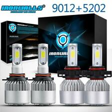 9012 5202 LED Headlight Kits + Fog Light Bulbs for GMC Sierra 2500 HD 2016 2015
