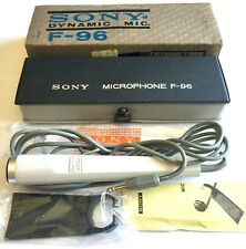 Vintage Sony Dynamic Mic F-96 Microphone With Case & Stand ~ New In Original Box