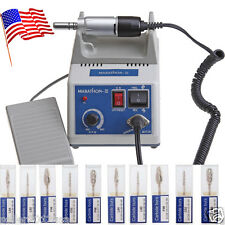 USA! Marathon 35K rpm Dental Lab Electric Micromotor N3 + 10PCS Drills Burs TY1