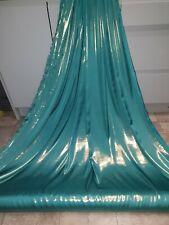 "1M turquiose /gold shimmer satin liquid soft dress fabric decorating fabric 58"""