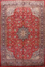 Vintage Floral Sarouk Traditional Area Rug Wool Hand-knotted RED Carpet 10x13 ft