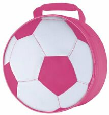 Thermos Novelty Soft Lunch Bag  Pink Soccer Ball