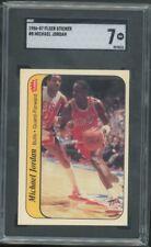 1986 Fleer Sticker Michael Jordan #8 ROOKIE SGC 7 NM  HOF RC