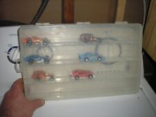 "Nice Vintage 1/64 Plastic Hobby Case with 4 openings 14"" x 8 3/4"" Free Shipping"