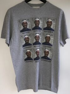 "Lebron James ""Faces of Lebron"" T-Shirt NEW Men's L Gray FREE SHIPPING"