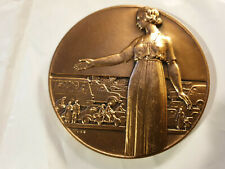 72mm FRENCH ART DECO MEDAL by TURIN ROAD PREVENTION AUTO