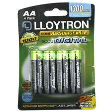 4 x  LLOYTRON AA 1300 mAh Rechargeable Batteries NIMH