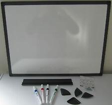 White Board. Dry Wipe Board 60cm x 45cm Framed. WITH 2 FREE MARKER PENS