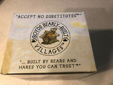 Vintage Boyds Bearly-Built Villages - Firestation - New In Box - W/Coa