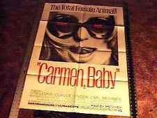 CARMEN BABY  MOVIE POSTER SEXPLOITATION CLASSIC