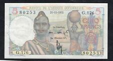 New Listing5 Francs From French Equatorial Africa Crispy Vf