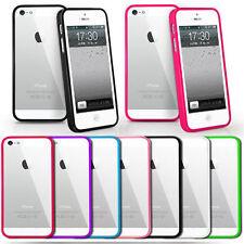 Clear Back Silicone TPU Bumper Case Cover Apple iPhone 4 5 5C 6 7