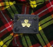 Men's Scottish Kilt Belt Buckle Shamrock Black Finish Celtic 4 Demo Belt Buckles