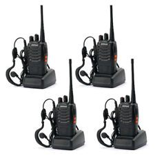 Lot 4 Baofeng BF-888S 16CH Two-Way Ham Radio Communication Walkie Talkie Black
