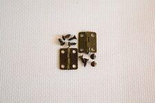 2 sets Mini Bronze Hinge Square Antique Door Hinges For Wooden Cabinet art. 342