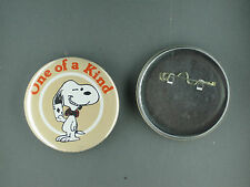 Snoopy one of a kind vintage button pin peanuts