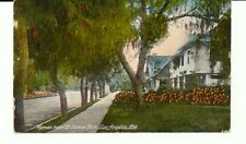 HOMES NEAR ST. JAMES PARK, LOS ANGELES, CAL. CA. CALIFORNIA. STREET SCENE.