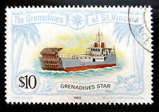 St VINCENT GRENADINES 1982 $10 SG224 Fine/Used BN1563