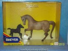 Breyer Rose Dun Proud Mare and Dark Newborn Foal Gift Set