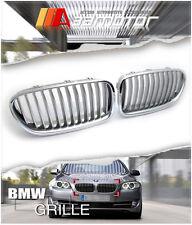 Titanium Front Hood Kidney Grilles for 10-16 BMW F10 F11 5-Series 528i 535i 550i