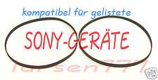 2er Set Riemen für  Sony Doppeltapedeck TC-WE...**NEU**