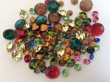 Swarovski Czech Rhinestone Jewellery 40 Mixed Large Medium colour GF REPAIR